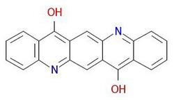 Pigment-violet-19-moleculaire structuur